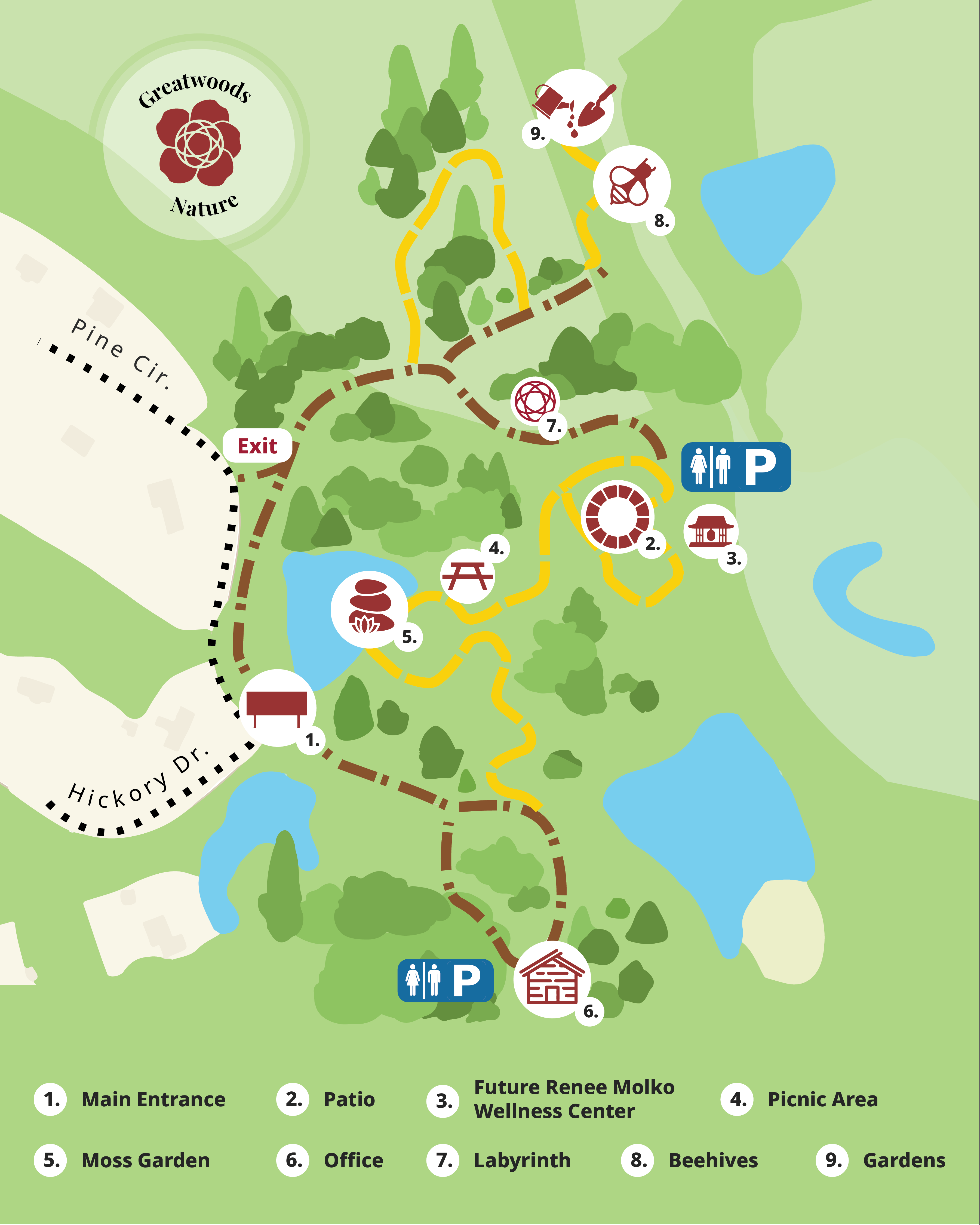 greatwoods nature map